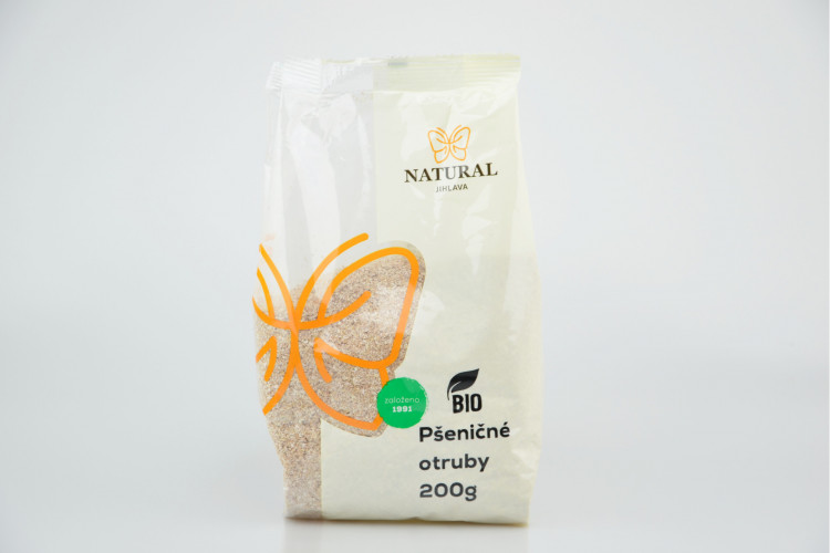 Natural Jihlava - Otruby pšeničné BIO 200 g Natural Jihlava