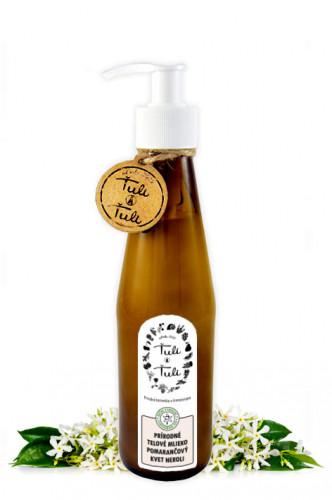 Ťuli a Ťuli přírodní tělové mléko Pomerančový květ Neroli 250 ml