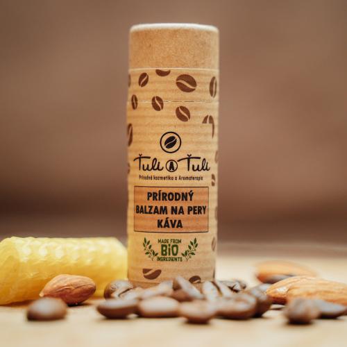 Ťuli a Ťuli Přírodní balzám na rty káva 20 ml