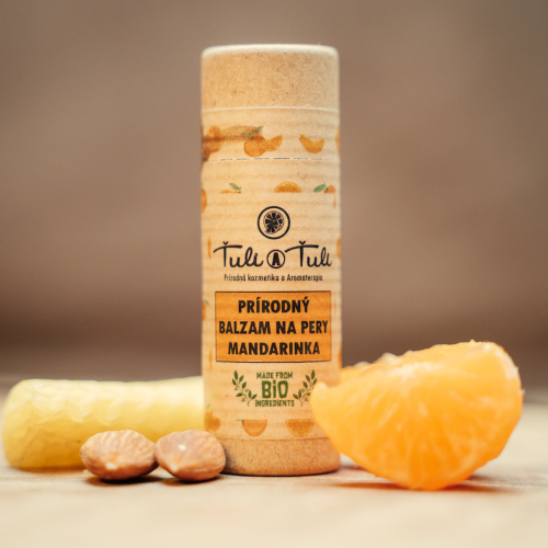 Ťuli a Ťuli Přírodní balzám na rty mandarinka 20 ml