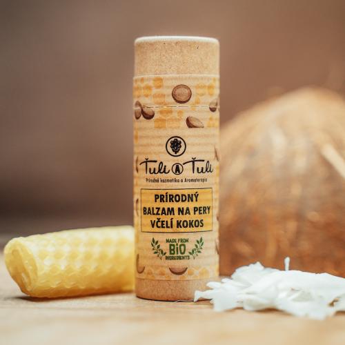 Ťuli a Ťuli Přírodní balzám na rty včelí kokos 20 ml