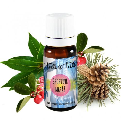 Ťuli a Ťuli - Sportovní masáž přírodní esenciální olej-silice 10 ml
