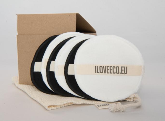 I LOVE ECO - Odličovací tampony – balení 6 tamponů + 1 síťovaný pytlík
