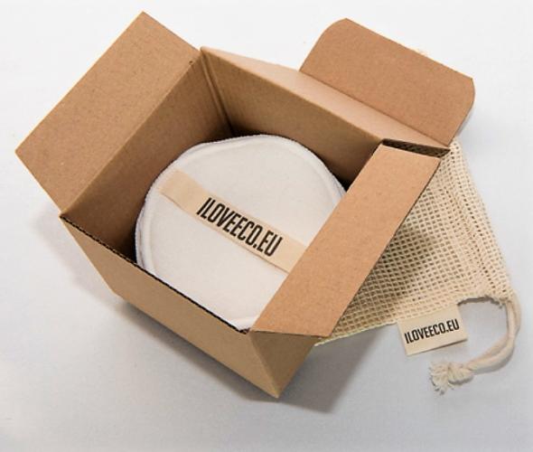 I LOVE ECO - Odličovací tampony – balení 20 tamponů + 1 síťovaný pytlík